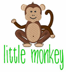 Little Monkey embroidery design