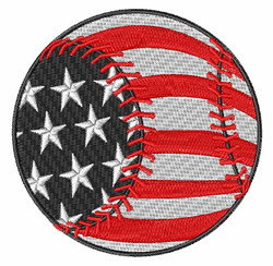Baseball USA embroidery design