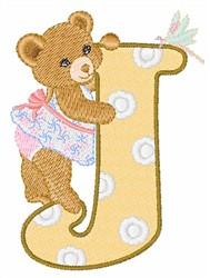 Teddy Alphabet J embroidery design