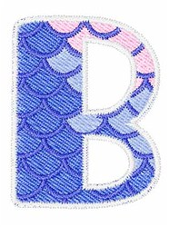Mermaid Scales B embroidery design
