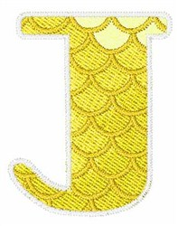 Mermaid Scales J embroidery design