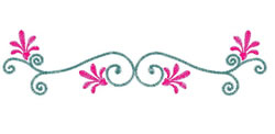 Flourish embroidery design