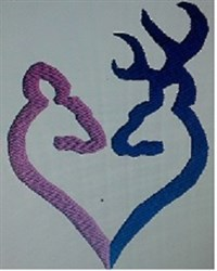 Buck and Doe Heart embroidery design