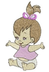 Champagne Broderie Free Embroidery Design Baby Girl 413