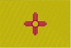 New Mexico Flag embroidery design