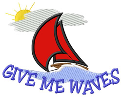 Give Me Waves embroidery design