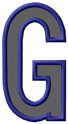 Plain Letter G embroidery design