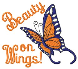 Beauty On Wings embroidery design