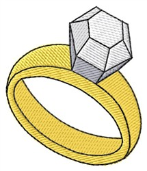 Diamond Ring embroidery design