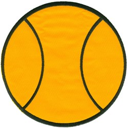 Tennis Ball Applique embroidery design