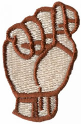 Sign Language T embroidery design