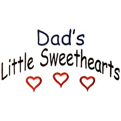 Dads Little Sweethearts embroidery design
