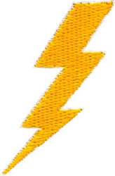 Lightning Bolt embroidery design