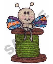 FLY ON SPOOL embroidery design