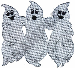 GHOST TRIO embroidery design