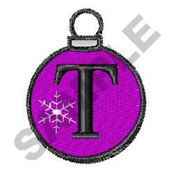 ORNAMENT LETTER T embroidery design