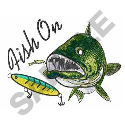 FISH ON embroidery design