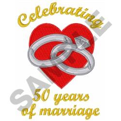 FIFTY YEARS MARRIAGE embroidery design