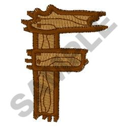 Fence Me In Font F embroidery design