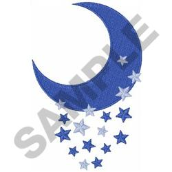 moon and stars machine embroidery designs