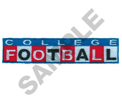COLLEGE FOOTBALL embroidery design
