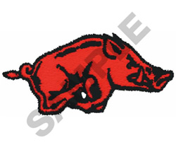 RAZORBACK embroidery design