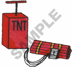 TNT - DYNAMITE embroidery design