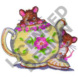 MOUSE IN TEAPOT embroidery design