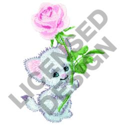 KITTEN AND ROSE embroidery design