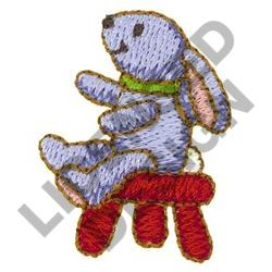 BUNNY ON STOOL embroidery design