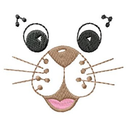 Animal Face embroidery design