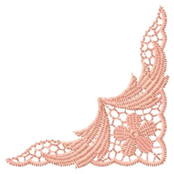 Lace Corner embroidery design