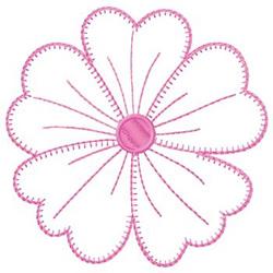 Gunold Embroidery Design Large Pink Flower Outline 440