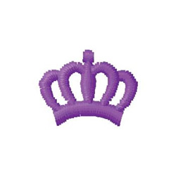 Purple Crown embroidery design