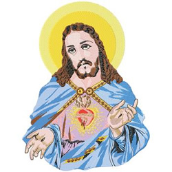 Sacred Heart Jesus embroidery design