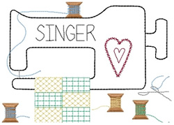Singer embroidery design