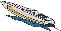 Cigarette Boat embroidery design