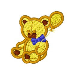 Bear with Ballooon embroidery design