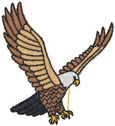 Spread Wings Bald Eagle embroidery design