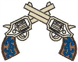 Pistols embroidery design