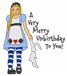 Very Merry Unbirthday embroidery design