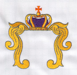 Crown Crest embroidery design