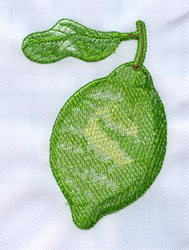 Lime embroidery design