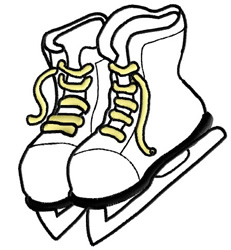 Ice Skates Outline embroidery design
