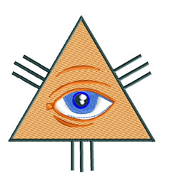 Eye of God embroidery design