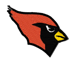 Cardinal Head embroidery design