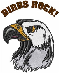 Birds Rock embroidery design