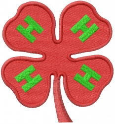 4H Emblem embroidery design