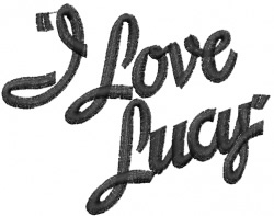 I Love Lucy embroidery design