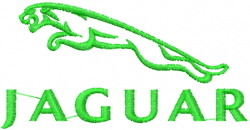 Jaguar Logo embroidery design